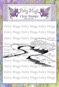 Fairy Hugs Stamp - Stream Scene