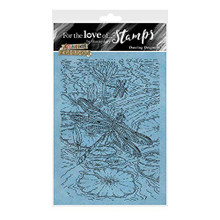 for The Love of Stamps - Hunkydory - Animal Kingdom - Dancing Dragonfly - A6 Stamp