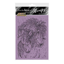 for The Love of Stamps - Hunkydory - Animal Kingdom - Heartfelt Horses - A6 Stamp