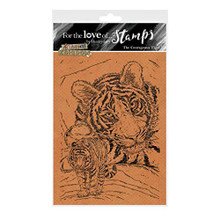 for The Love of Stamps - Hunkydory - Animal Kingdom - The Courageous Tiger - A6 Stamp