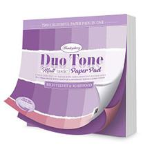 Hunkydory Crafts Duo Tone Paper Pad - Matt-Tastic - Rich Velvet & Rosewood