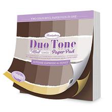 Hunkydory Crafts Duo Tone Paper Pad - Matt-Tastic - Intense Espresso & Honey