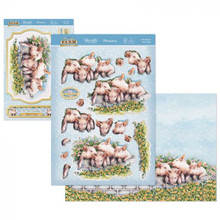 Hunkydory - Meadow Farm Deco-Large Topper Set - 4 Little Pigs