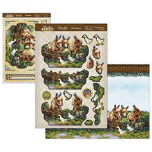 Hunkydory Crafts Meadow Farm Deco-Large Topper Set - Delightful Donkeys