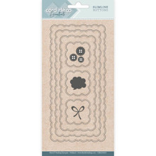 Find It Trading- Card Deco Cutting Dies- Slimline Buttons CDECD0103