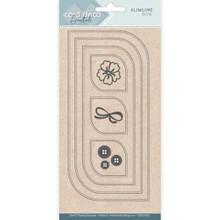 Find It Trading- Card Deco Cutting Dies- Slimline Bow CDECD0102