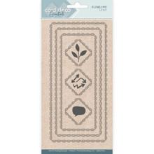 Find It Trading- Card Deco Cutting Dies- Slimline Leaf CDECD0101