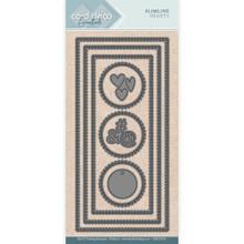 Find It Trading- Card Deco Cutting Dies- Slimline Hearts CDECD0055