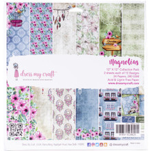 """Dress My Craft 12""""x 12"""" Collection Pack- 24 sheets Magnolias"""