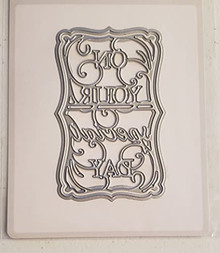 Tonic Studios- On Your Special Day Sentiment Die Set 4222e