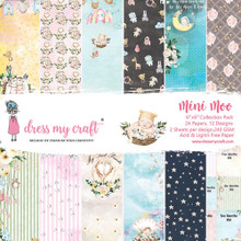 """Dress My Craft 6""""x 6"""" Collection Pack- 24 sheets Mini Moo"""