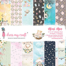 """Dress My Craft 12""""x 12"""" Collection Pack- 24 sheets Mini Moo"""