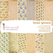 """Dress My Craft 6""""x 6"""" Collection Pack- 24 sheets Teenie Weenies"""