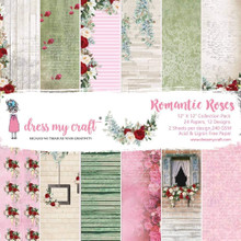 """Dress My Craft 12""""x 12"""" Collection Pack- 24 sheets Romantic Roses"""