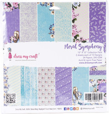 """Dress My Craft 12""""x 12"""" Collection Pack- 24 sheets Floral Symphony"""