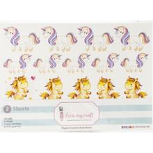 Dress My Craft Magical Unicorns Motif Sheets- 2, A4 sheets- 49 Motifs