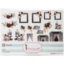 Dress My Craft Romantic Roses Motif Sheets- 2, A4 sheets- 61 Motifs