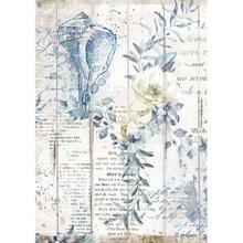 Stamperia Rice Paper Sheet A4 Sea Dream Shells, Romantic