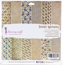 "Dress My Craft Single-Sided Paper Pad 12""X12"" 24/Pkg-Teenie Weenies, 12 Designs/2"