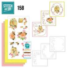 Find It Trading Stitch and Do 159 - Humming Bees- Embroidery on Paper kit