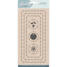 Find It Trading- Card Deco Cutting Dies- Slimline Butterfly CDECD0107