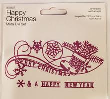 Create and Craft- Happy Christmas Metal Die