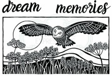 Woodware Clear Stamps - Hunting Owl