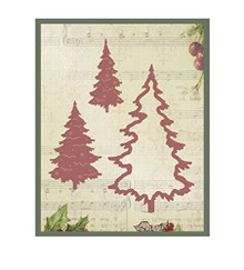 Couture Creations- Cutting Dies - Evergreen Trees 3pcs