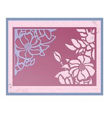 Ultimate Crafts Impression Die - Magnolia Wreath, 13.4x9.4x0.1 cm, Black