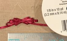 "Offray Satin - 1/8"" x 10YD Ribbon - WINE"