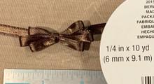 "Offray Satin - 1/4"" x 10YD Ribbon - BROWN"