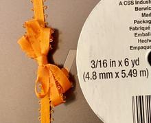 "Offray Satin - 3/16"" x 6yd Ribbon - ORANGE FEATHERED"