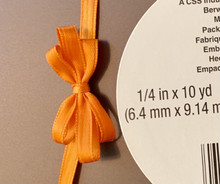 "Offray Satin - 1/4"" x 10YD Ribbon -ORANGE"
