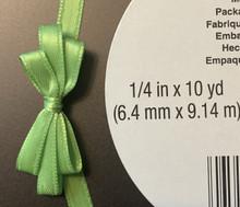 "Offray Satin - 1/4"" x 10YD Ribbon - KIWI"