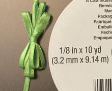 "Offray Satin - 1/8"" x 10YD Ribbon - KIWI"