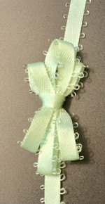 """Offray Satin - 3/16"""" x 6yd Ribbon - LIME JUICE - FEATHERED EDGE"""