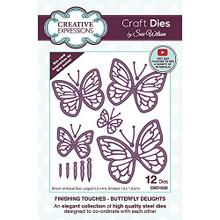 Sue Wilson Finishing Touches-Butterfly Delights Craft Die, Largest Die 5.3 x 4.4 cm Smallest die 1.3 x 1.9 cm, Metal