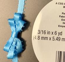"""Offray Satin - 3/16"""" x 6yd Ribbon - =ISLAND BLUE"""