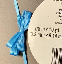 """Offray Satin - 1/8"""" x 10YD Ribbon - ISLAND BLUE"""
