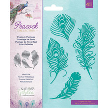 Crafter's Companion Nature's Garden- Peacock Collection- Peacock Plumage Die Set