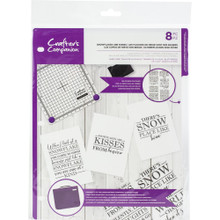 Crafter's Companion CC-CA-ST-SNAK Clear Stamps- Snowflakes are Kisses