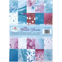 Angela Poole- A4 Double-Sided Patterned Papers- Florals & Flurries