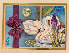Live Stream Work Along Class Kit -- Hunkydory Animal Kingdom --Love Conquers (Froga Swans)