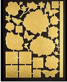HOTP Foiled Fancies Botanical Frames HOTP6528 4 sheets Foiled and Embossed Die (2 gold & 2 silver)