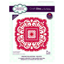 Craft Die CED3187 Sue Wilson Festive Collection - Felicity