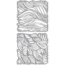 Spellbinders- Jane Davenport- Tresses Stencil Set- 2- 6x6 stencils