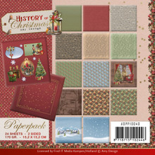 """Find It Trading Amy Design- History of Christmas- 6""""X6"""" Paper Pad"""