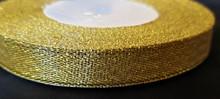 "25 yd Metallic Glitter Ribbon 1/2""- Old Gold"