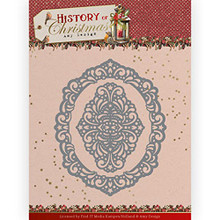 Amy Design History of Christmas - Lacy Christmas Oval - Metal Die ADD10245