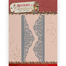 Amy Design History of Christmas - Lacy Christmas Border - Metal Die ADD10247
